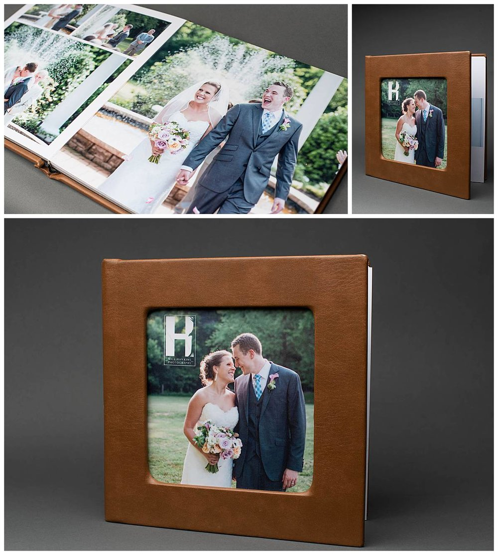 our 10x1o custom leather album.