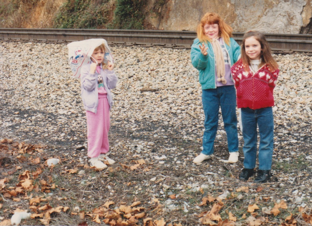 My cousins and I impatiently waiting for the Santa Train in 1988. Photograph © Patsy Phillips.