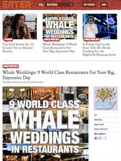 eater whale weddings