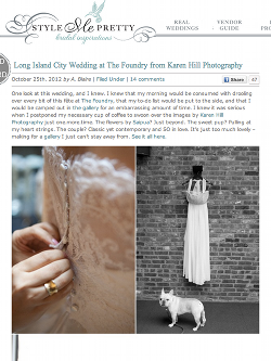 style me pretty the foundry wedding
