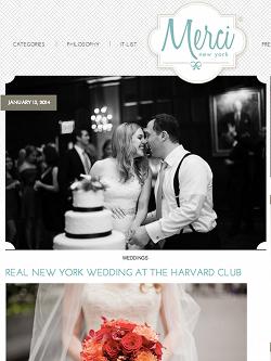 Harvard Club Wedding Merci New York
