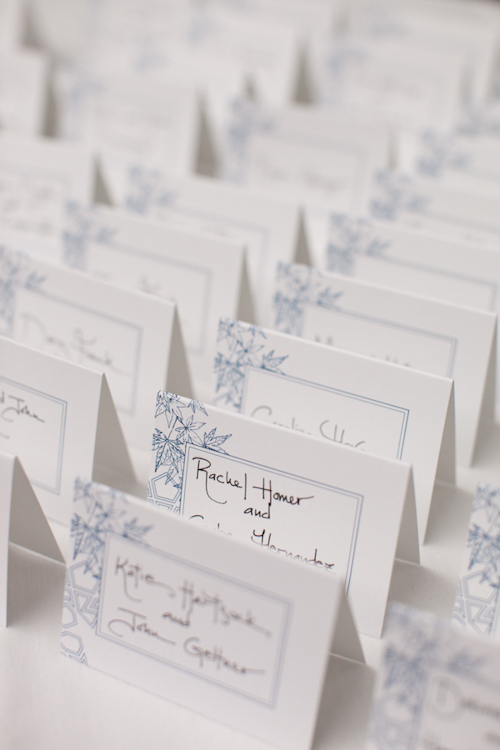 central park boathouse wedding escort card-1