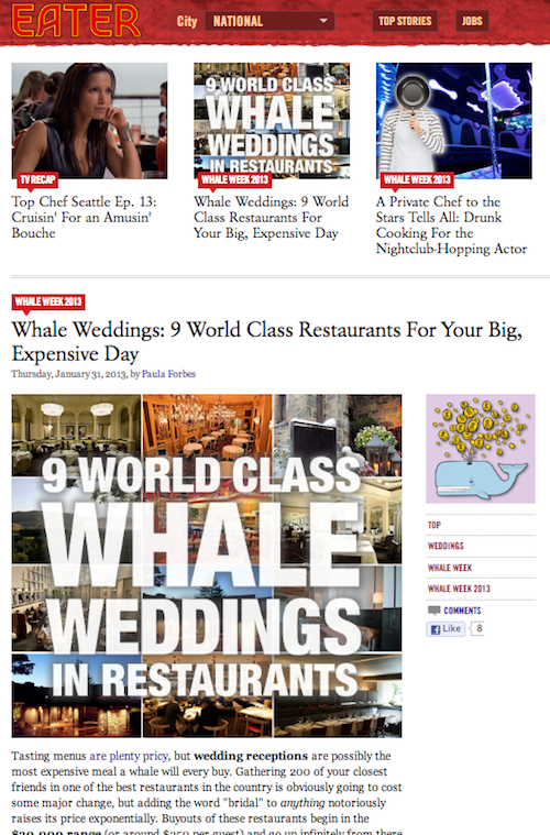 eater 9 world class weddings in restaurants