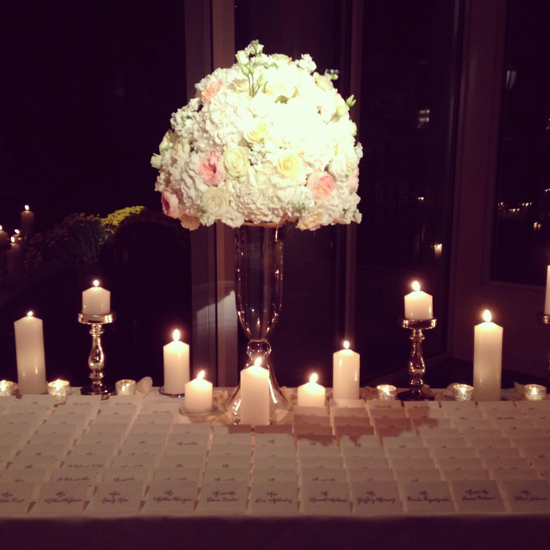 central park boathouse wedding escort card table