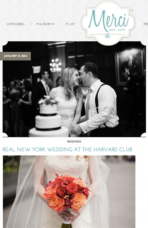 merci harvard club wedding