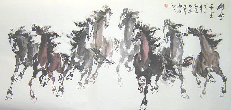 galloping horses chinese painting