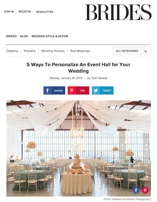 how to personalize an event hall for your wedding