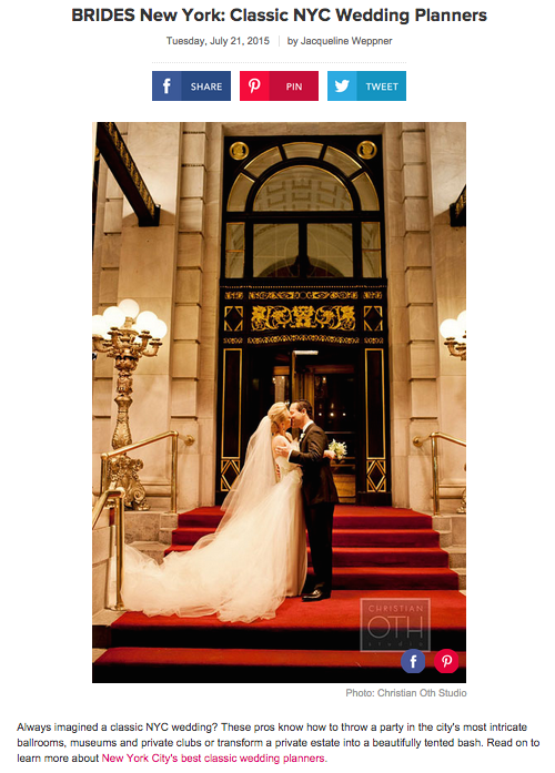 brides classic nyc wedding planners
