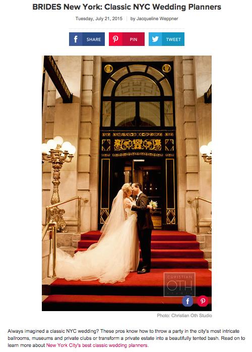 classic NYC wedding planners