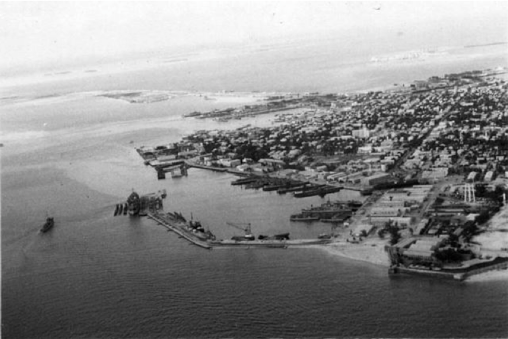 1951 - 1953 South side of former causeway to the corner of Osceola and Adair filled in and the North side of Fort filled in.