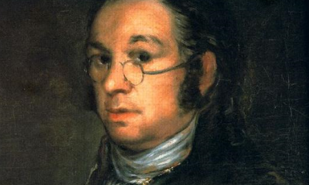 Francisco José de Goya, Self portrait with spectacles, ca 1800