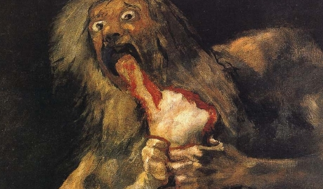 Goya, Saturn Devouring His Son, 1819-23