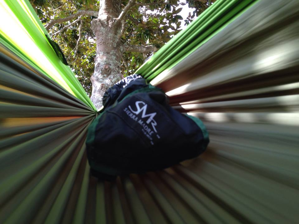 """Just got my new Pares Hammock from Sierra Madre Research today. It's almost a foot longer than my newly torn ENO, which is going to make sleeping across it so much easier. This thing is sick! Congrats SMr, you've successfully won a long time ENO buyer!"" Photo by Ryan Hutto"