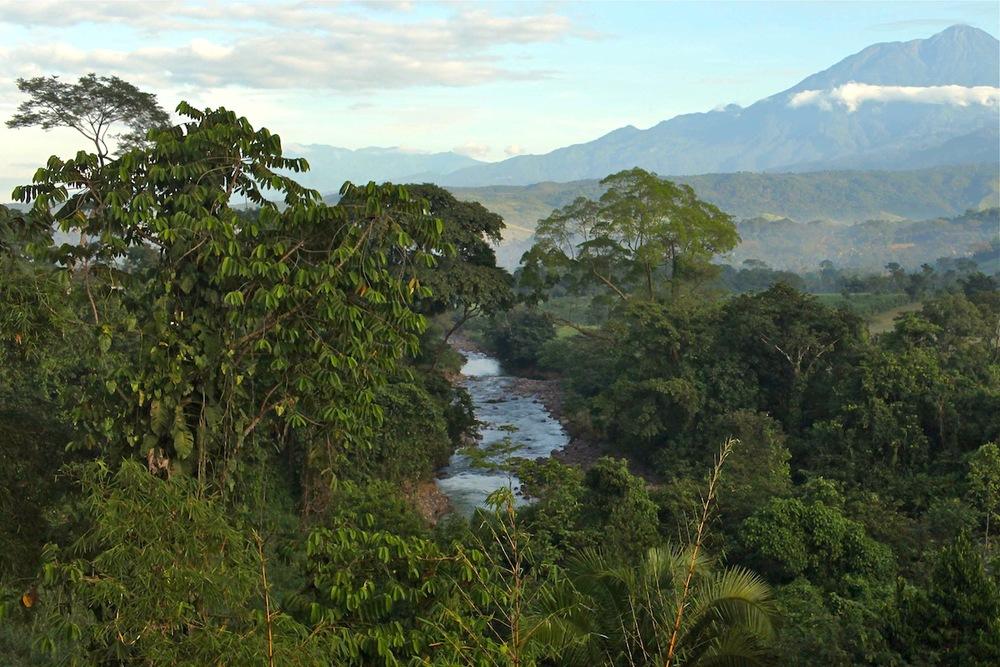 The mountainous terrain of Guatemala
