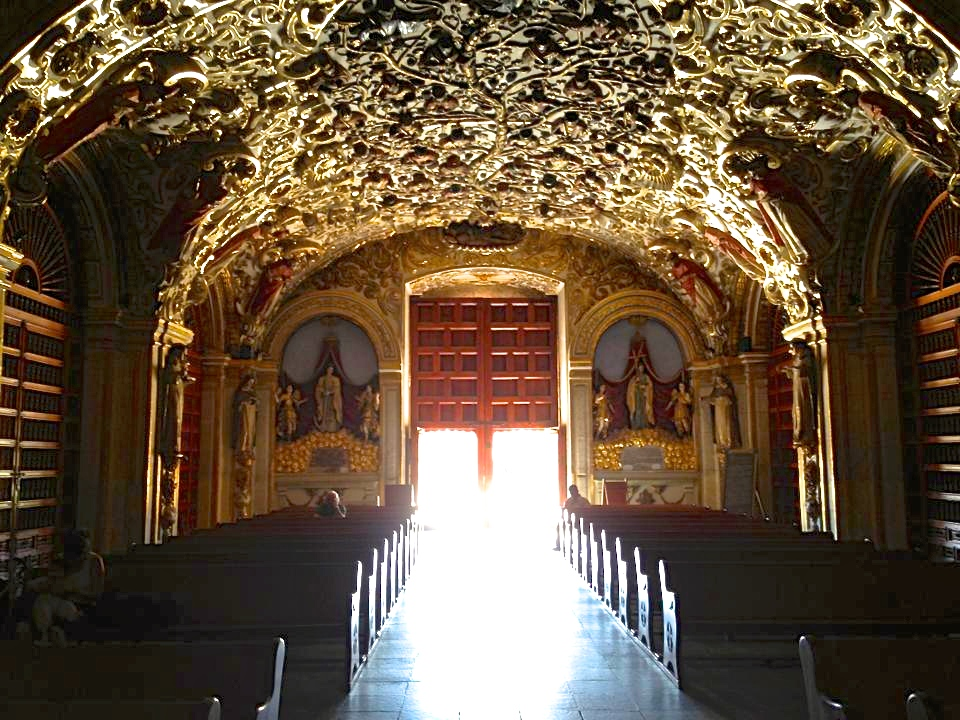 Gold encrusted elaborate cathedral interior