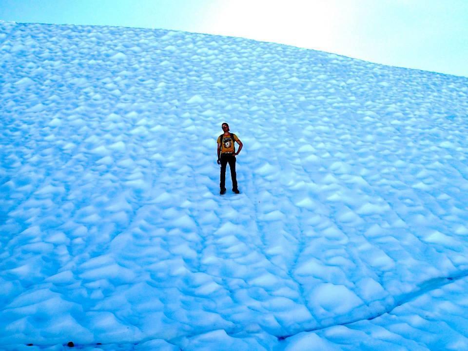 Exploring Matanuska Glacier in Alaska