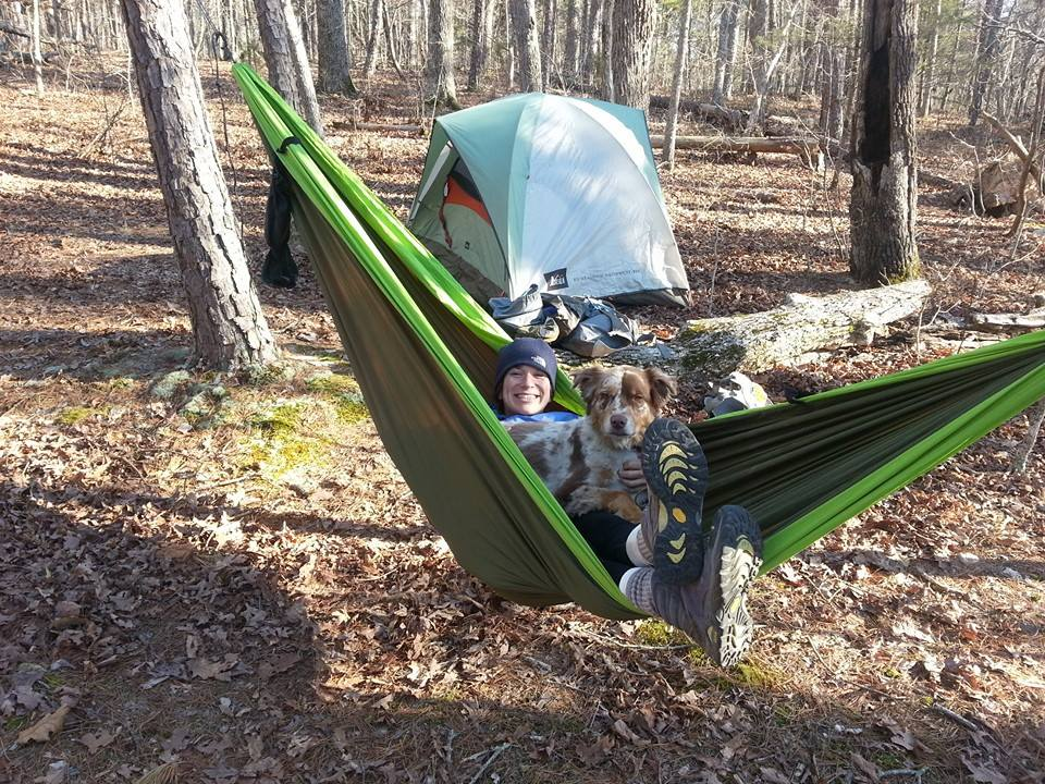 """Really enjoying our Pares hammock. Once we get our Nube we can leave the tent behind""  Photo by Michael Parker"