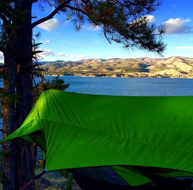 Hammock camping at Canyon Ferry, excellent way to finish off a long day at work.