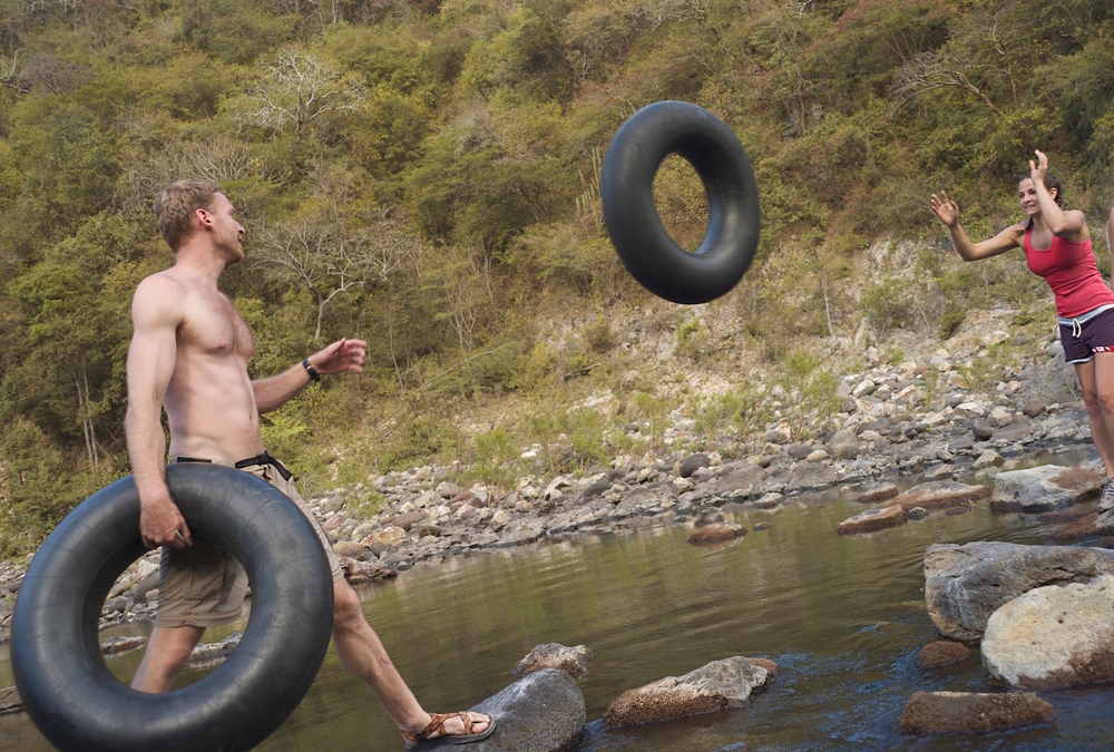 Assembly Line of Tire Tossing
