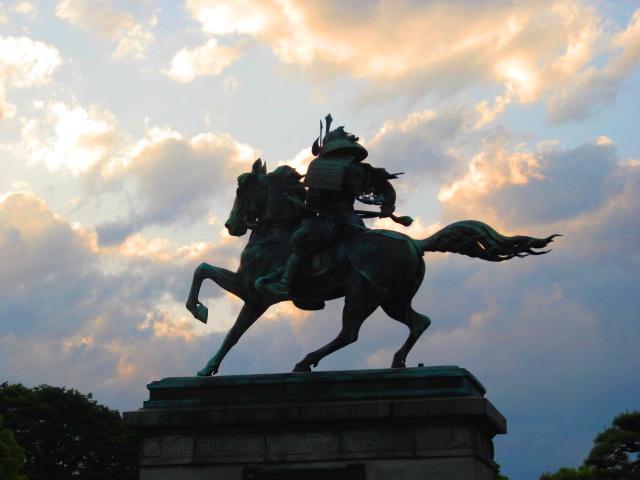 Kusonoki Masashige- a 14th century samurai-  In the Imperial Palace Gardens-Tokyo