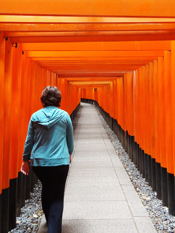 Fushimi Inari Shrine with the famous torii gates all lined up