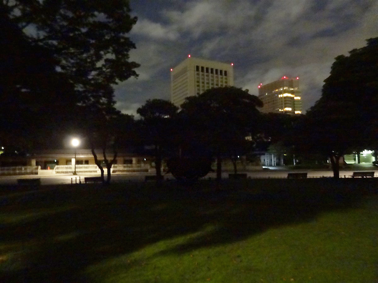 Nubé set up in the shadows in the Imperial Garden. Can you spot it?!