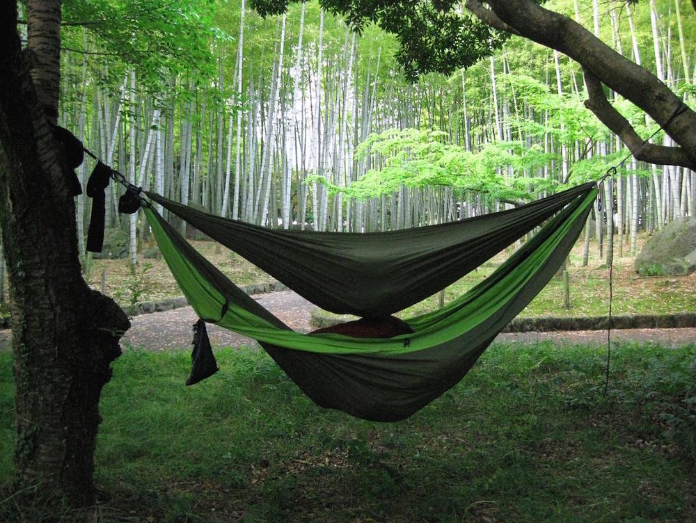 Hambunks and Bamboo Camping in Beppu Park