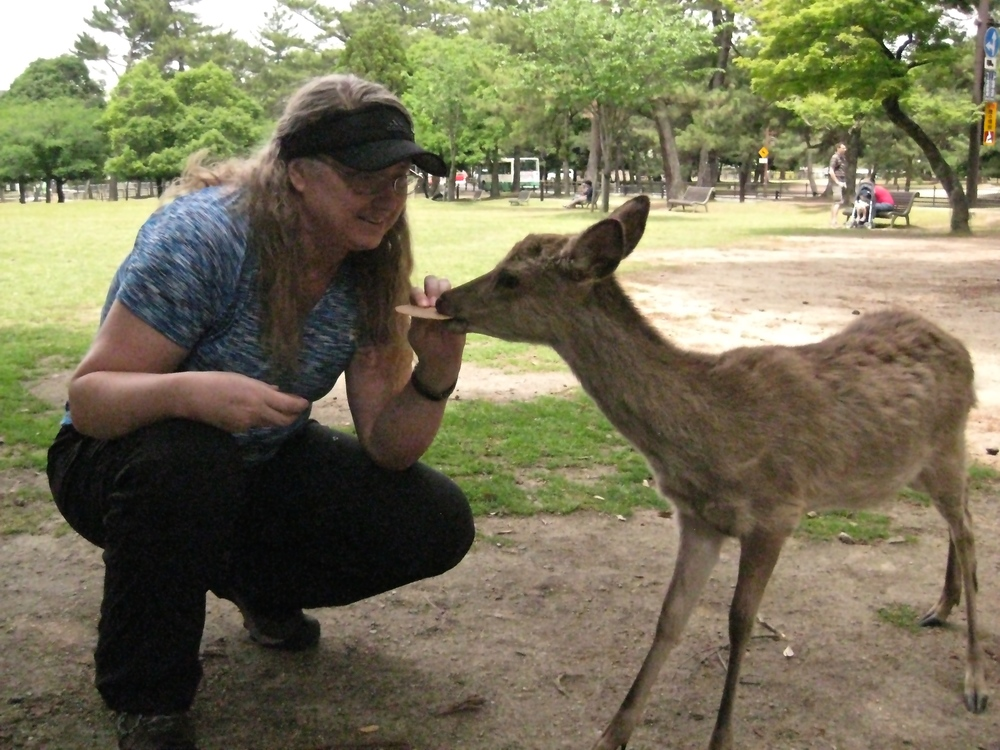 Val Feeding the Deer