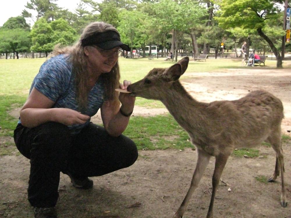 Val Feeding the Deer
