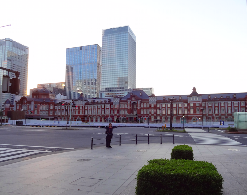 Tokyo JR station at 4am with no one driving around or even in the rail station. We saw NO ONE this early in the morning. Amazing architecture and was really nice to get a little more accustomed to the maze that is a train station in Japan before all the hustle and bustle ensued later in the day.