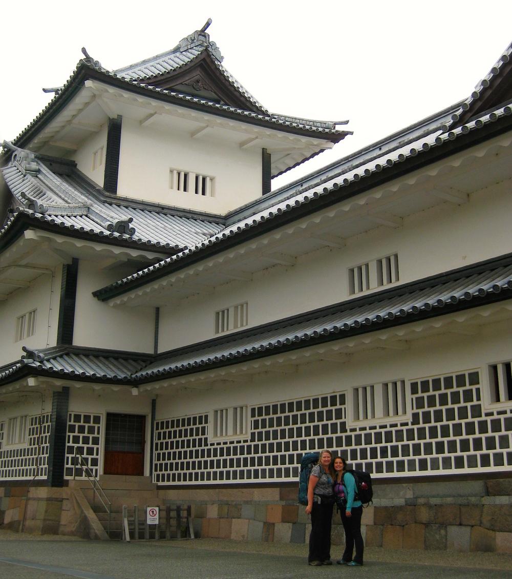 Posing withKanazawa Castle