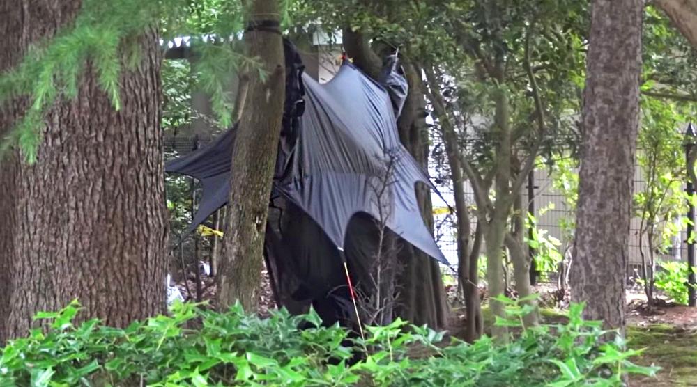 Kanazawa park urban camp spot right near bathrooms