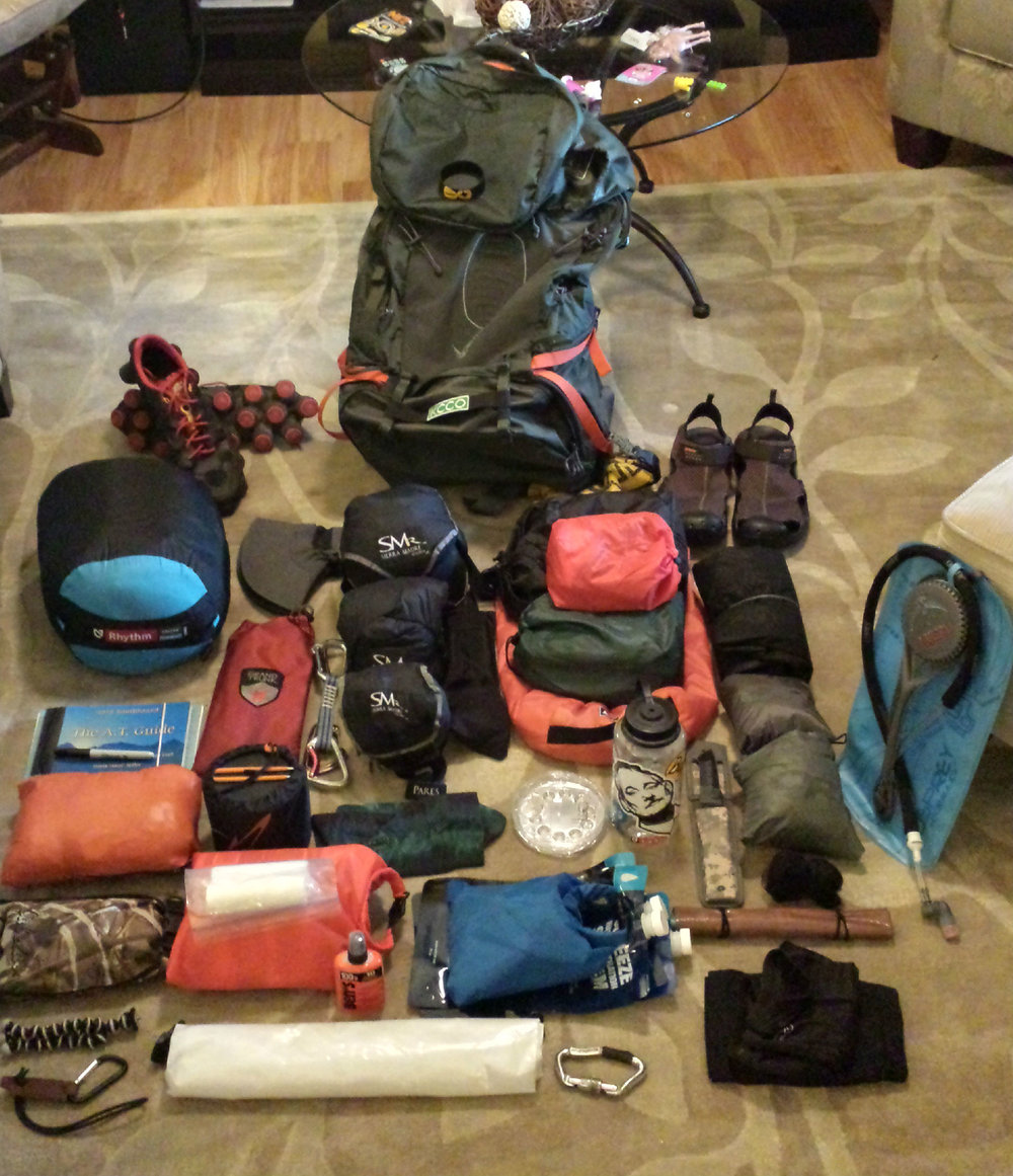 """Gearing up before the hike of a lifetime, Chad """"Octo"""" Haynes decided to use the SMr Pares Hammock with the Nubé Hammock shelter which lasted the whole journey."""
