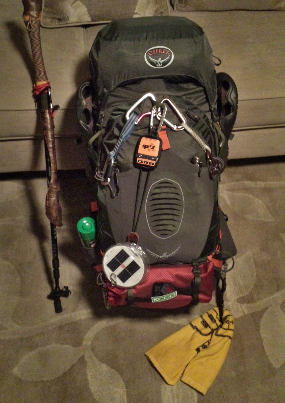 """Ready to go! Chad """"Octo"""" Haynes' pack is stuffed to the brim with everything he will need to survive the AT."""
