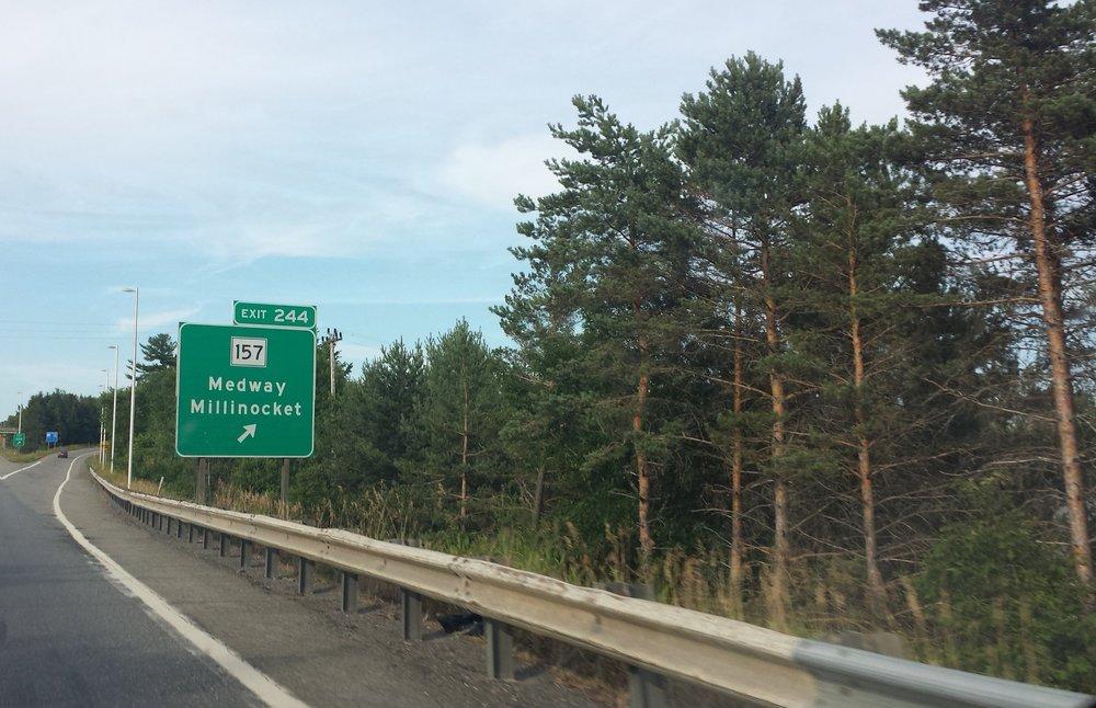 The last glimpse of civilization- Millinocket, Maine.