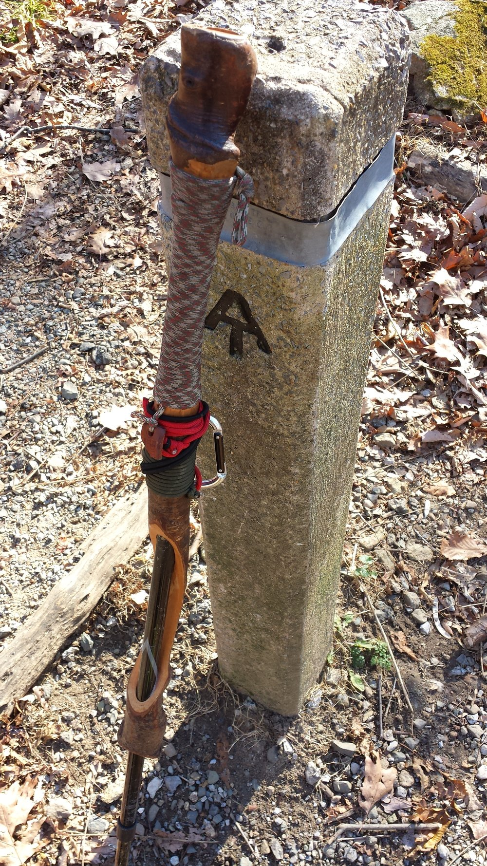 """Accustomed to the constant presence of rugged A.T. sign post and his trusty hiking stick 2.0 Chad """"Octo"""" Haynes enjoyed the views afforded by the pristine Shenandoah Valley in Virginia."""