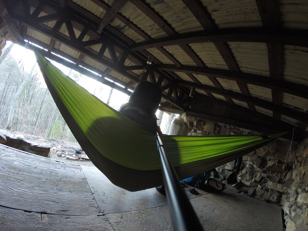 """During the second half of his trek, Chad """"Octo"""" Haynes utilized many of the hiking shelters available along the Appalachian Trail in Virginia."""
