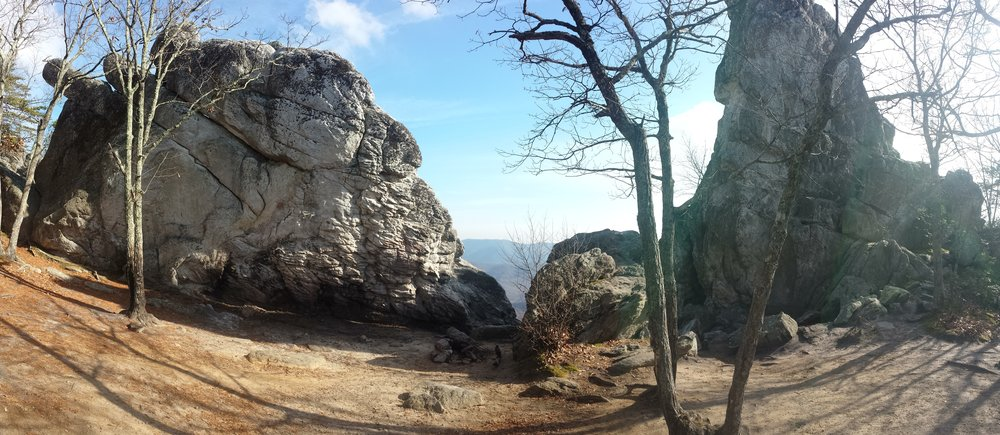 """Chad """"Octo"""" Haynes was able to enjoy the best views the Shenandoah had to offer, including Dragon's Tooth."""