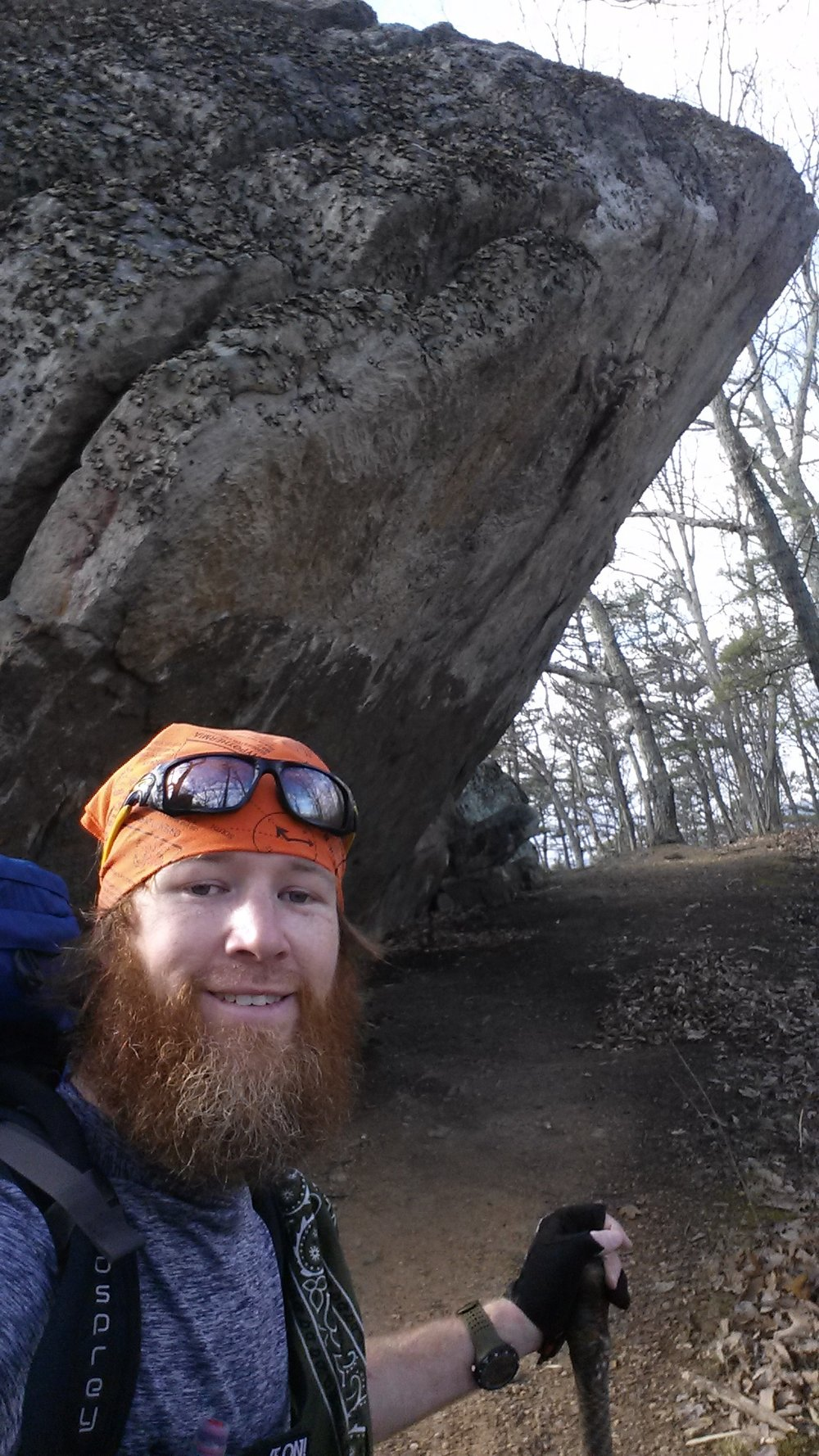 """By the time Chad """"Octo"""" Haynes made it through Virginia he had a respectable beard worthy of any rugged trail."""