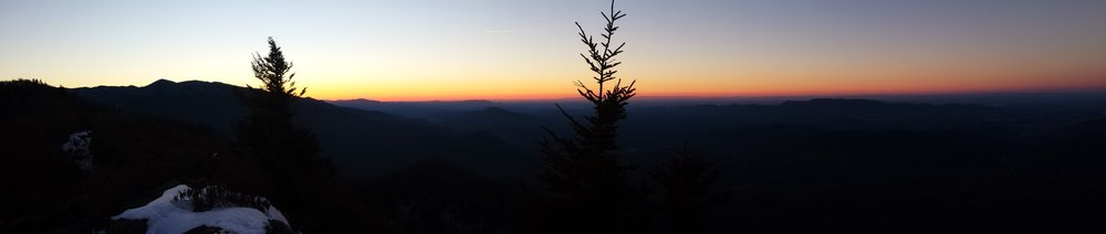 """While trekking through the Great Smoky Mountains of Tennessee Chad """"Octo"""" Haynes and his trail friends were able to catch panoramas of the best sunrise on the trail."""