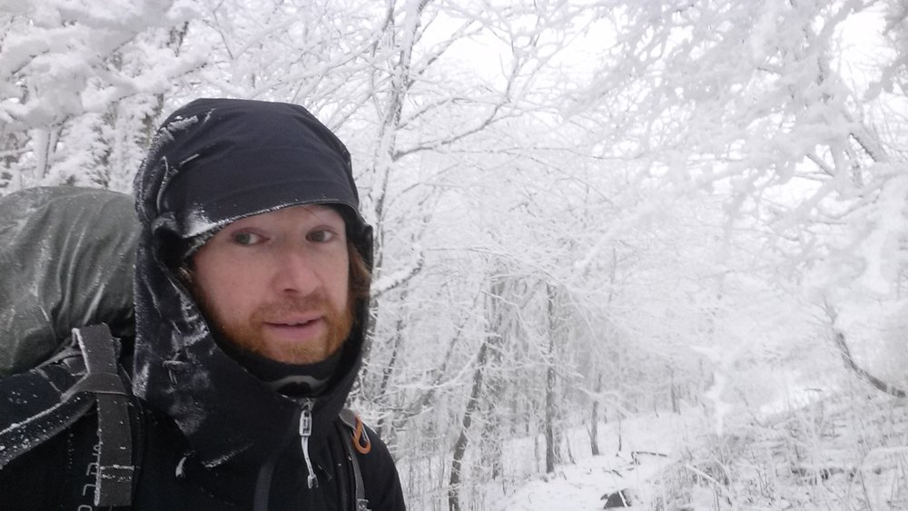 "Not a stranger to icy temperatures Chad ""Octo"" Haynes enjoys the snow in the Smokies of Tennessee."