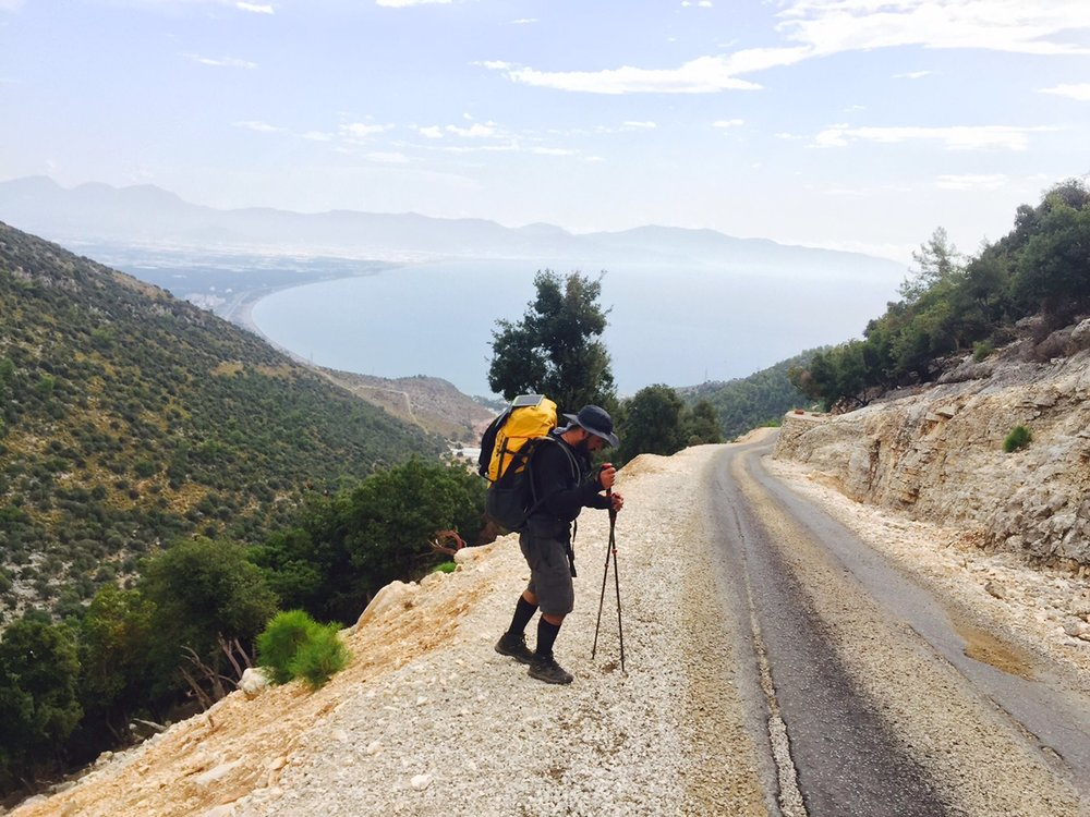 On their last and most challenging day Soner and Bekir finished their trek on Lycian Way, gaining 6,000 ft in elevation.