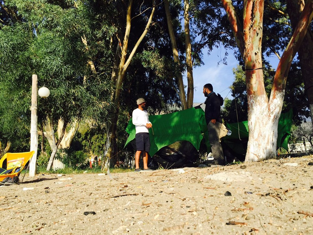 Soner and Bekir enjoy their camp along Lycian Way in Turkey.