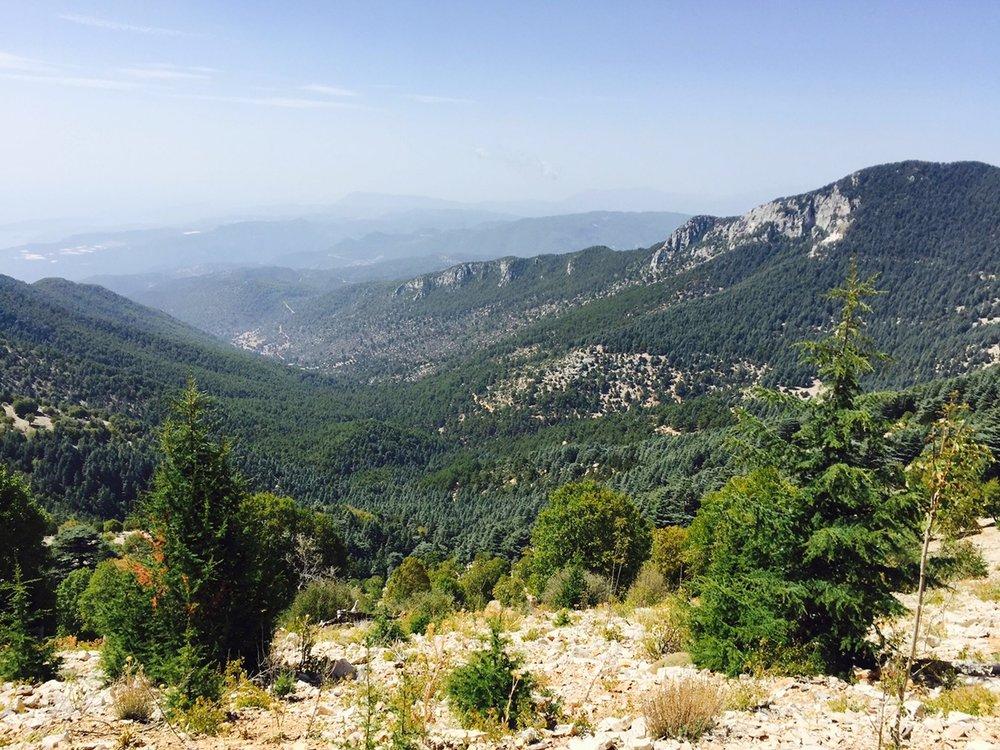View along Lycian Way in Turkey.