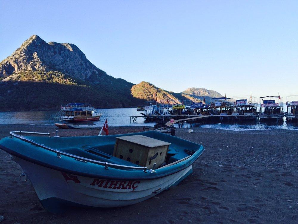 Boats seen along the SouthEastern edge of Lycian Way.
