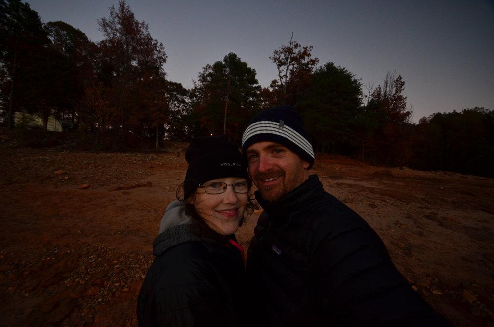 Angela Oliver and her husband at Sadler's Creek State Park, South Carolina.