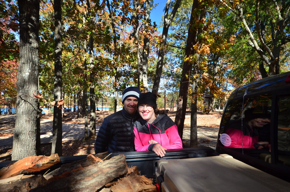 SMrAdventurer Angela Oliver and her husband enjoy a much needed break from the hustle and bustle of life while hammock-camping on a windy weekend at Sadler's Creek State Park, South Carolina.