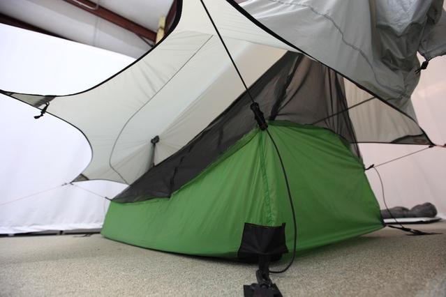 StratosFloor prototype #1 set up under the StratosFly