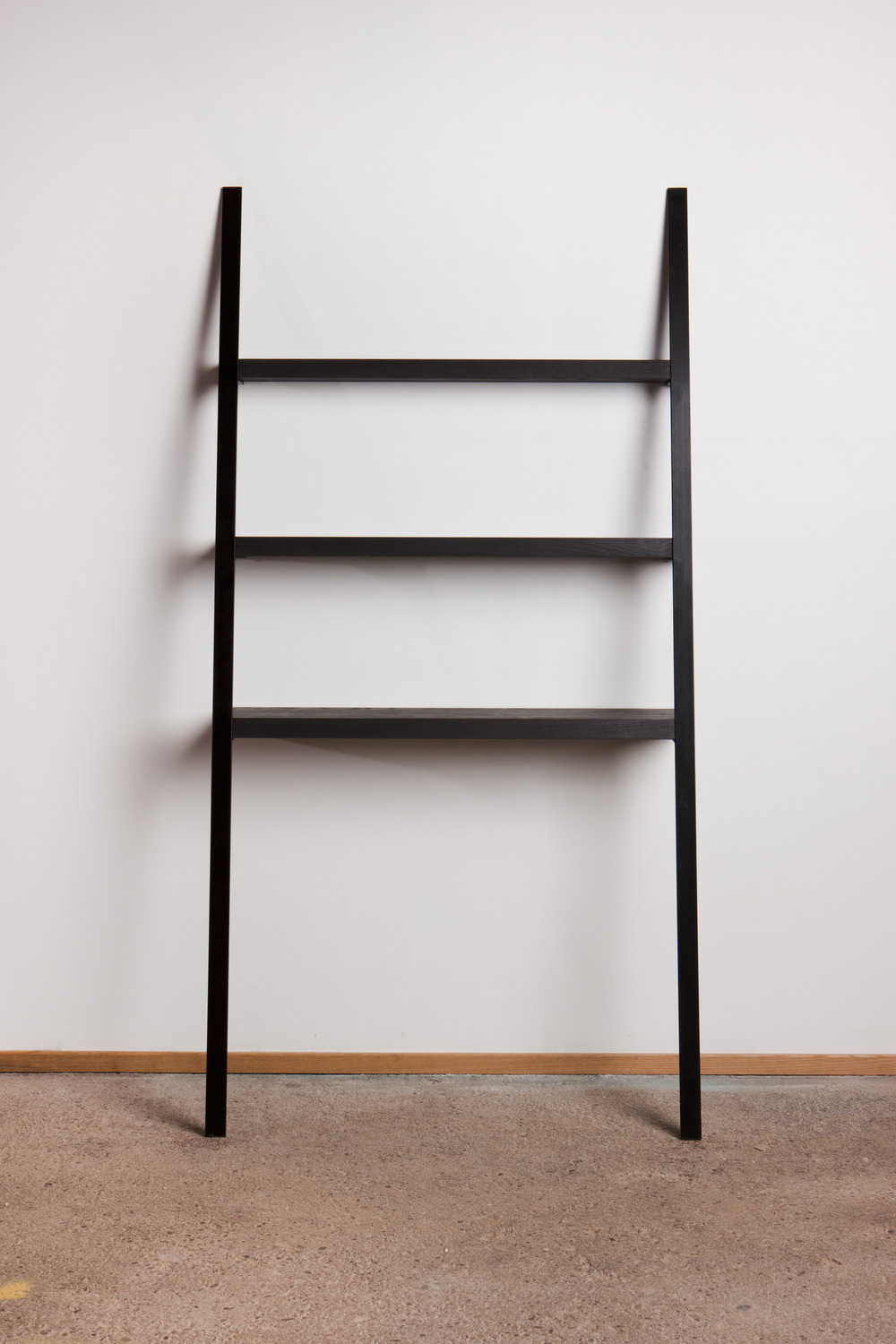 Leaning Shelf: Black On Black