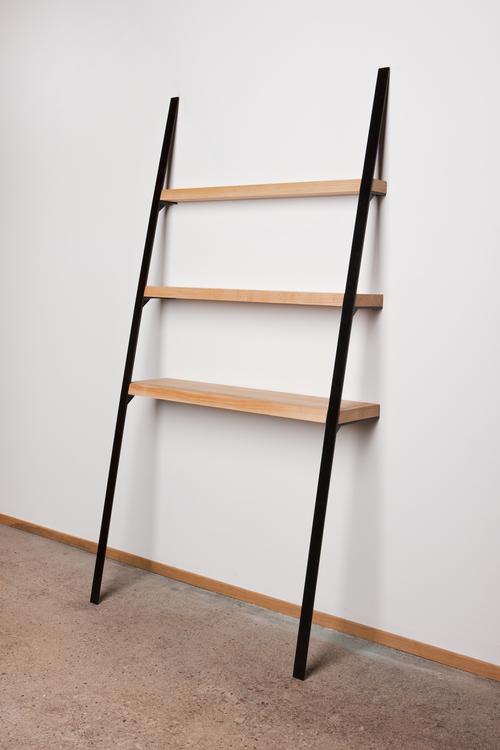 Leaning Shelf: Ash on Black